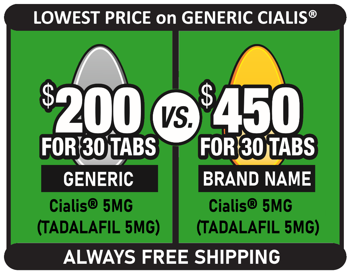 Generic Cialis 5mg $200 for 30 tablets