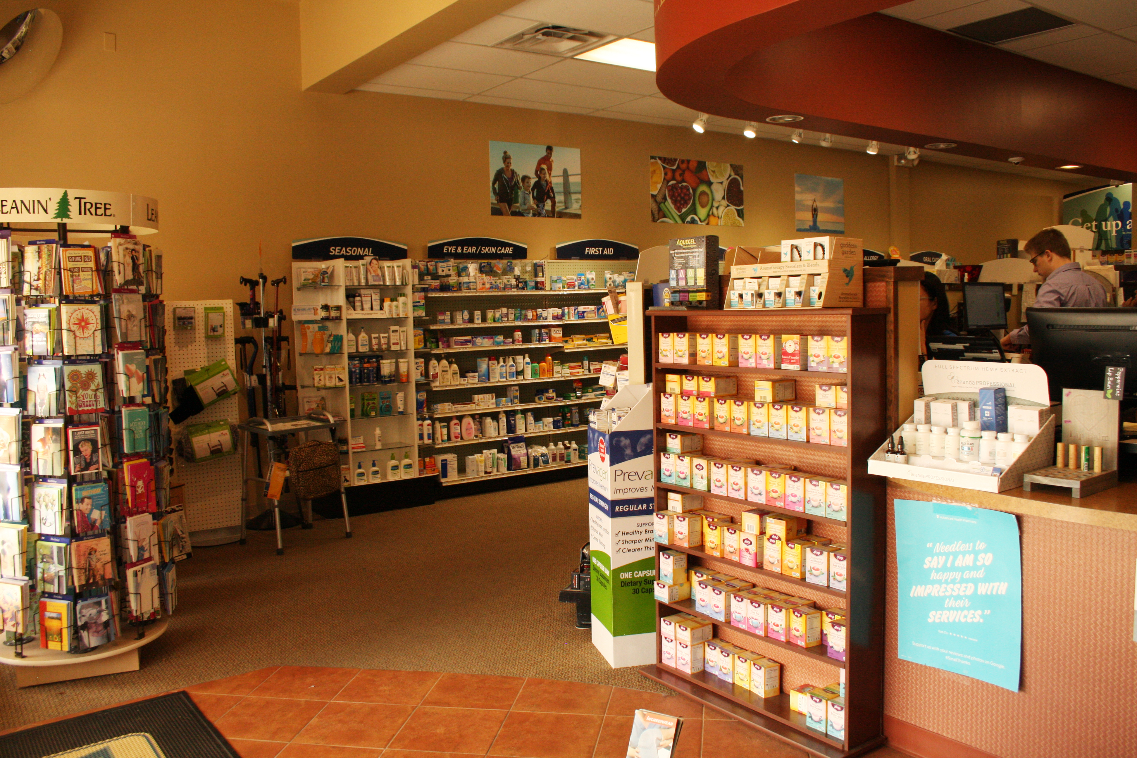 Inside advanced Health Pharmacy