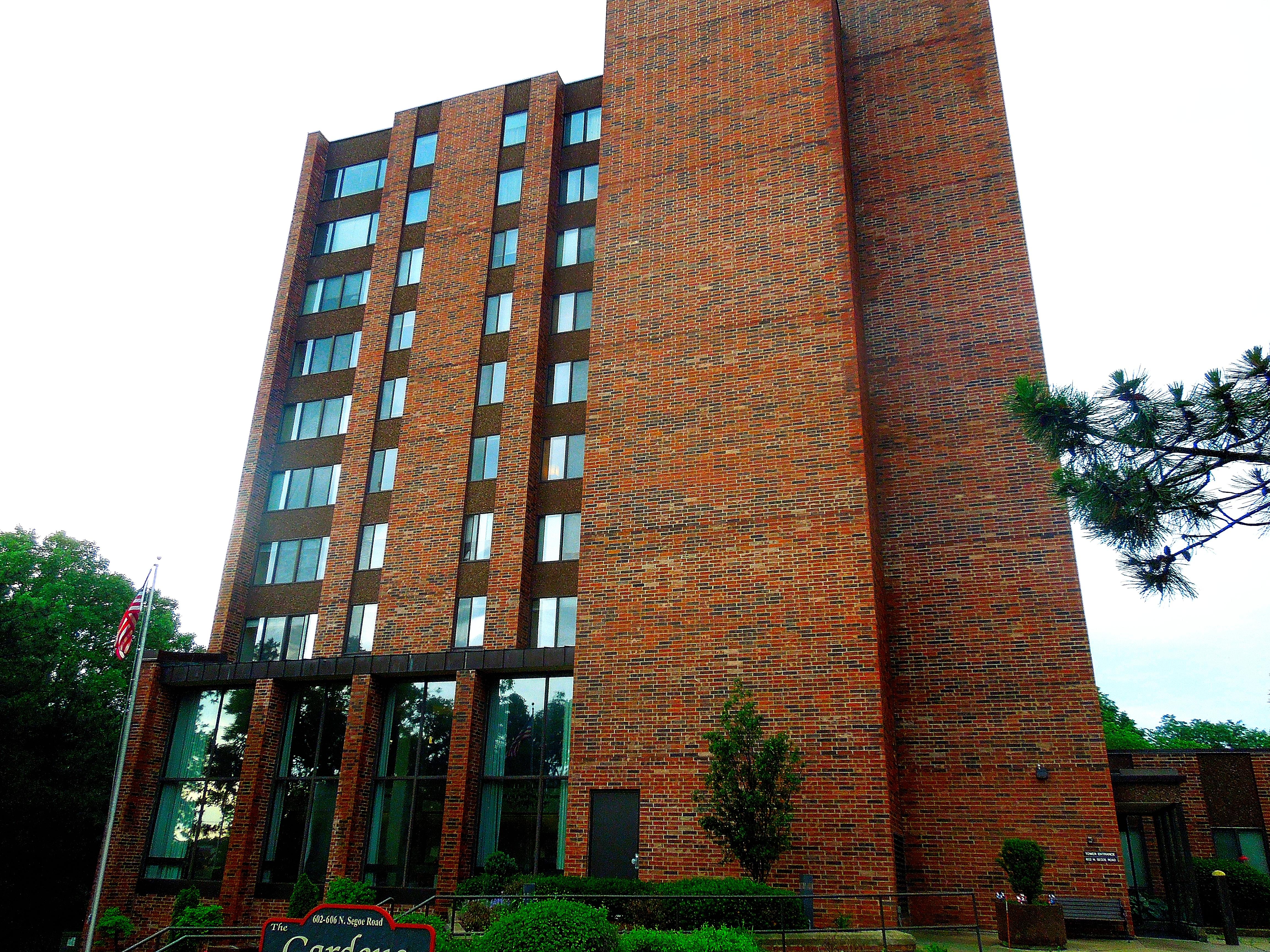 Exterior of Senior Living High Rise Building