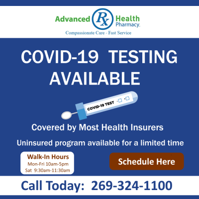 Announcing Covid-19 Testing Available
