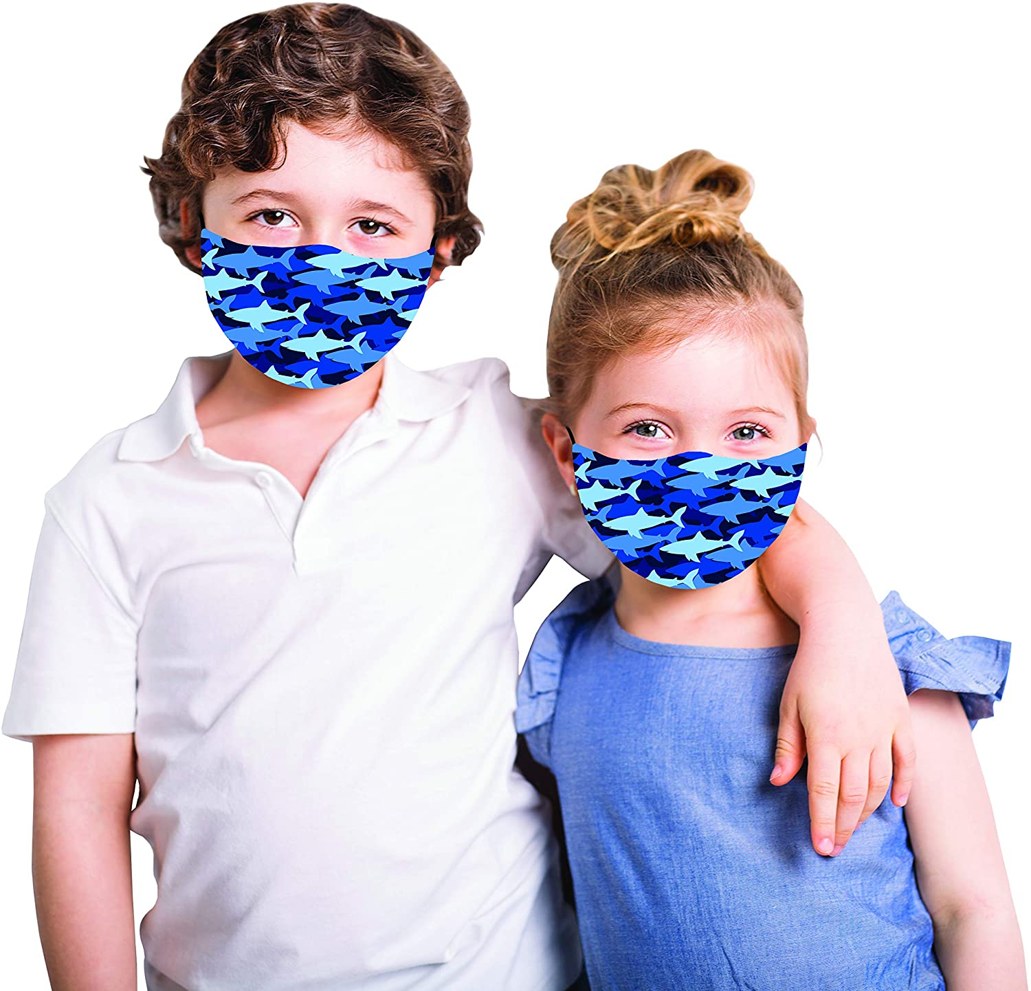 Snoozies Sharks Cloth Kids Facemask