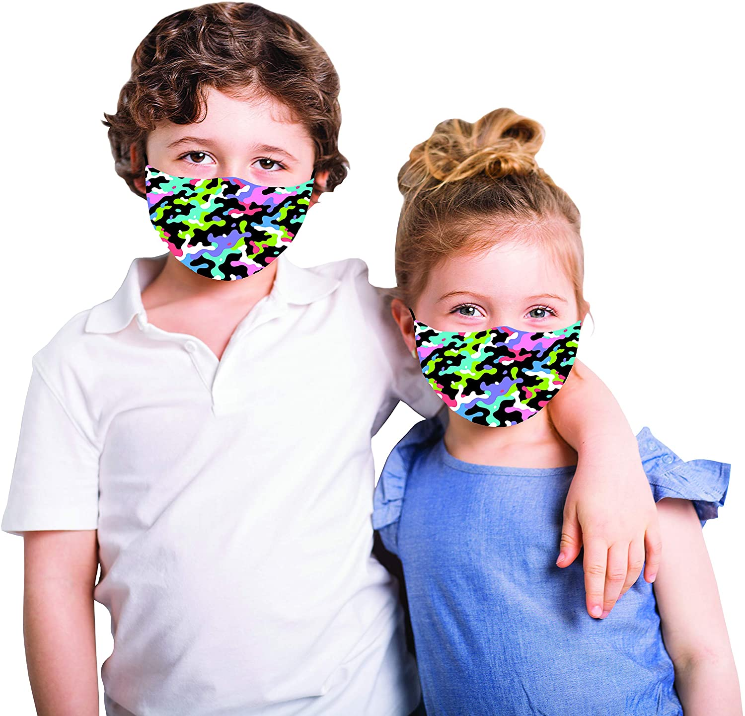 Snoozies Kids Multi-camo Face Mask