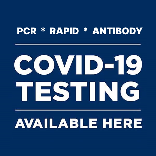 COVID-19 Testing Available Here