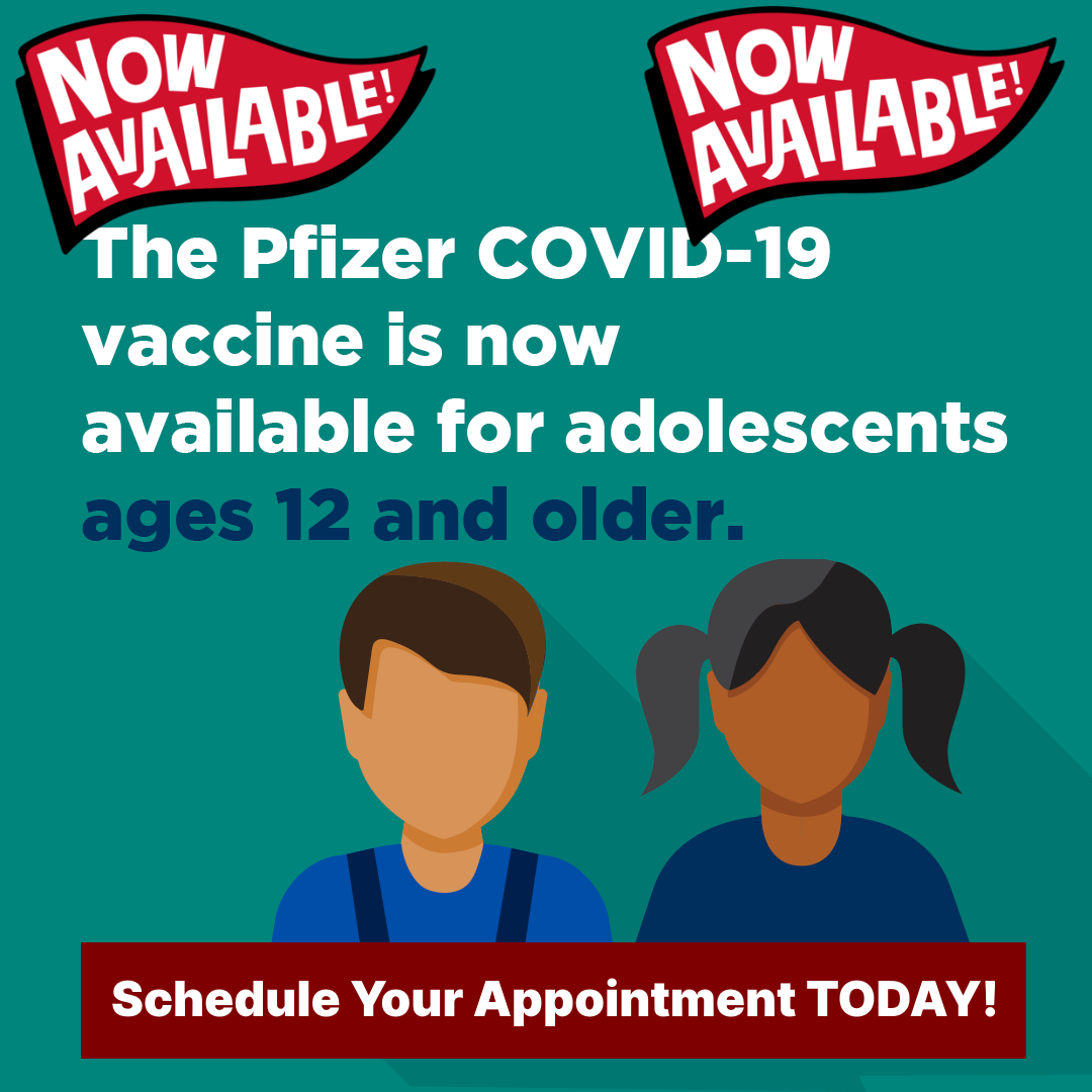 Covid-19 Vaccine Available Here for Everyone 12 and Older