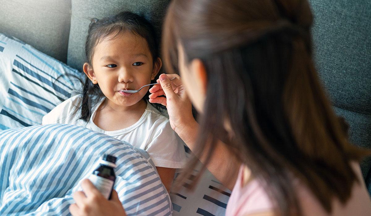 Child taking OTC Medicine